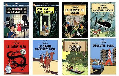 Bundle- 10 Assorted Herge Tintin Posters