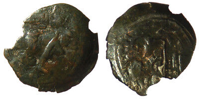 Byzantine Andronicus II Palaeologus AE Trachy Thessalonica mint