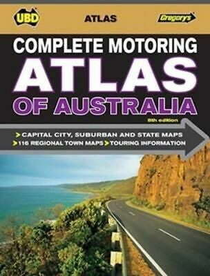 NEW Complete Motoring Atlas of Australia By UBD Gregory's Spiral Ringed Book