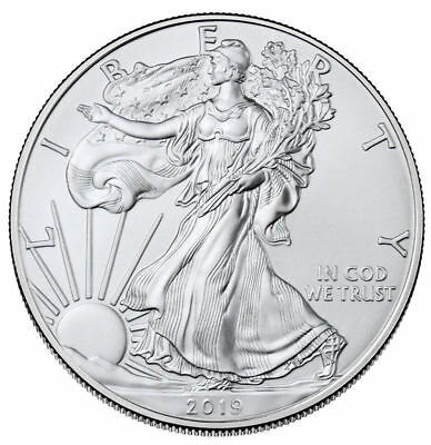 2019 1 oz American Silver Eagle $1 GEM BU PRESALE SKU55748