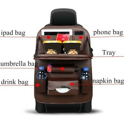 Car back seat cover with multi storage organiser and foldable table MEL IN STOCK
