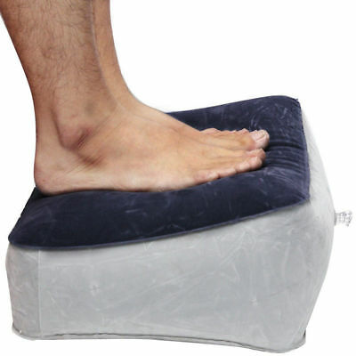 Travel Foot Rest Pillow Inflatable Footrest Cushion For Travel Office And Home