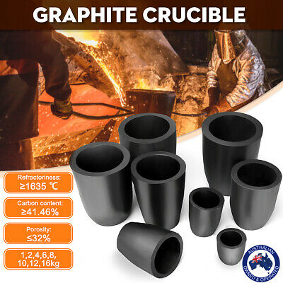 1/2/4/6/8/12/16 Kg Graphite Furnace Casting Foundry Crucible Copper Melting  AU