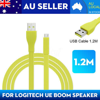 1.2M Micro USB PC Charger Data Cable For Logitech UE BOOM MEGA bluetooth
