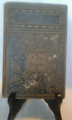 Arabian Nights Alta Edition by Haswell 1848 HC Antique