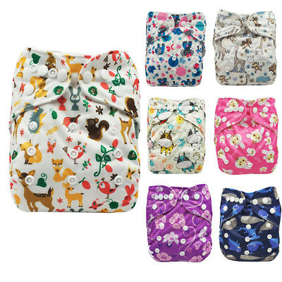 Infant Baby Adjustable Washable Reusable Cloth Diaper Pocket Nappy Cover Wrap