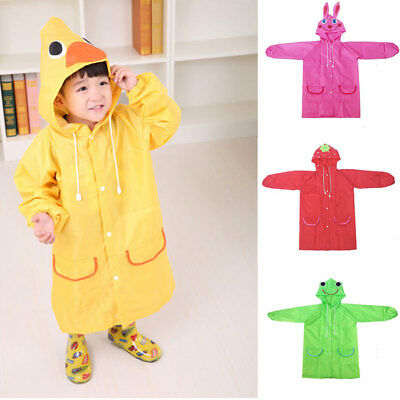 Funny Baby Children Kids Cartoon Raincoat Rainwear Waterproof Rainsuit