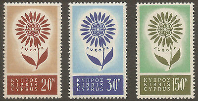 Cyprus 1964 Europa Cept Complete Set Of 3 Mnh