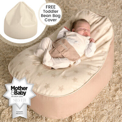 Bambeano® Baby Bean Bag Support Chair With FREE Toddler Bean Bag Cover & Toy