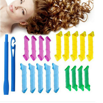 New Magic Hair Curler DIY Leverage Curlers Curl Formers Spiral Styling Roll18Pcs