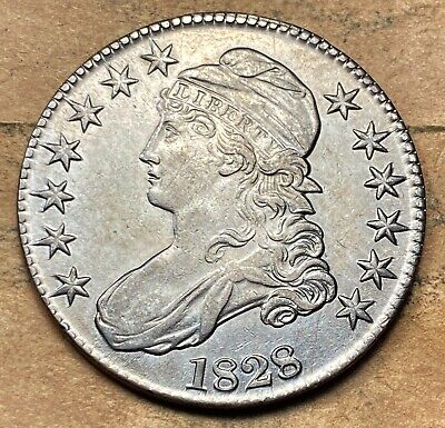1828 Capped Bust Half Dollar  Choice UNC BU