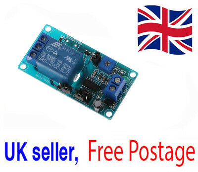 Delay Relay with Timer Turn on Turn off Switch Module DC 12V Genuine UK Seller