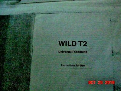 Wild T2 Universal Theodolite Instructions for use