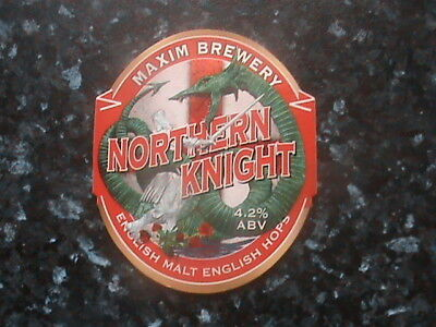 Maxim Northern Knight beer pump clip sign St George & the Dragon theme