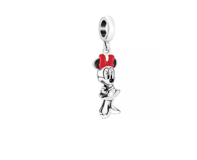 Genuine Chamilia Sterling Silver NEW Disney Minnie Figural Hanging Charm