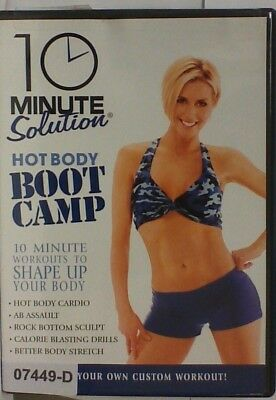 DVD Movie 10 MINUTE SOLUTION HOT BODY BOOT CAMP in Original Jacket