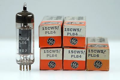 5 Vintage 15CW5 / PL 84 General Electric Noval Vacuum Pentode Radio TV Tube Valv