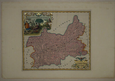 1737 Genuine Antique map China Province, de Koei-Tcheou, exquisite. by D'Anville