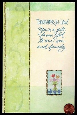 DAUGHTER-IN-LAW FLOWERS VERSE James 1:17 RELIGIOUS Birthday Greeting Card -  NEW