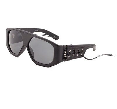 9b6cb8f92d25 NEW Jeremy Scott x Linda Farrow Black Leather Laced Side Corset Sunglasses