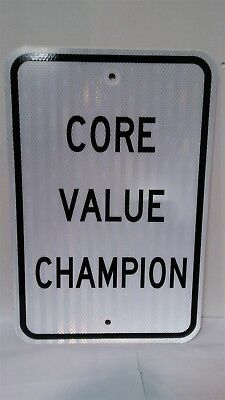 Victorian Trading Co CORE VALUE CHAMPION Parking Sign Employee of the Month 25A