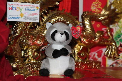 """Ty 2.0 Beanie Baby Ricky The Racoon-6""""-Unused Code-2009-Mwnmt-Nice Gift"""