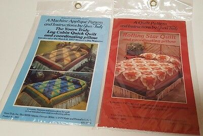 Vintage Sewing Quilting Yours Truly Patterns  - Assortment Lot of Two