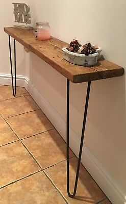 RECLAIMED Scaffold Board Console/Hall Table - Hairpin table - Industrial -Rustic