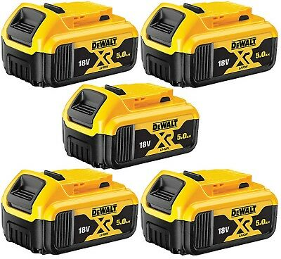 Genuine Dewalt 5X DCB184 18V XR Li-Ion 5.0AH Lithium Slide Battery