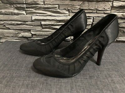 BUFFALO LONDON HIGH Heels Schuhe Pumps Gr. 40 schwarz