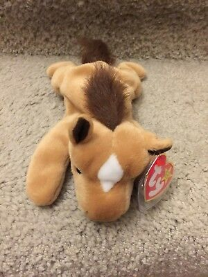 8c87b77681d Ty Beanie Baby ~ DERBY the HORSE FINE MANE WHITE STAR ~ Plush ~7