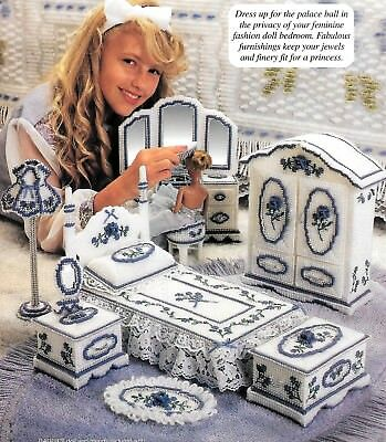 Fashion Doll Barbie Dream Home Bedroom Plastic Canvas Patterns