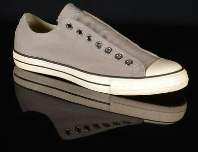 3e18bc72420a29 Converse Mens John Varvatos All Star Laceless Sneakers Size 9.5M Gray Shoes