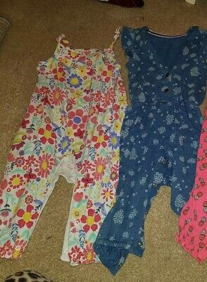 Pack of 2 Baby Girls summer dungarees- aged 9-12 months