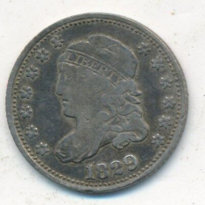 1829 Capped Bust Silver Half Dime-Very Nice Circulated Type Coin-Ships Free!