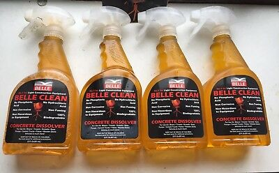 Belle Clean Concrete Dissolver Pack Of 4 650ml