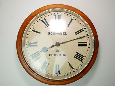 QUALITY English Schnabel LONDON 1880 Chain Driven Fusee Dial Clock Wall