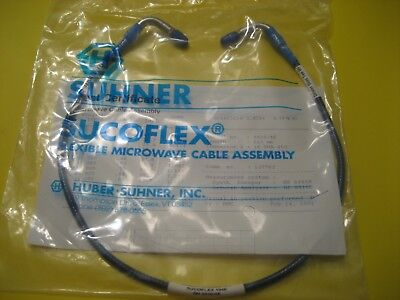 Huber Suhner SUCOFLEX 104E Coax SMA(m)-SMA(m) both Rt. Angle DC~18GHz 610mm