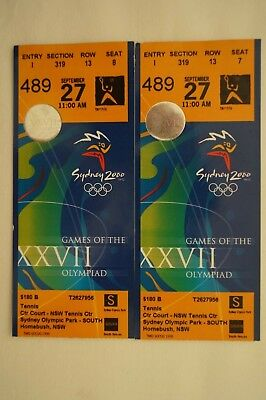 Olympic Games Collectable Sydney 2000 Pair of Games Tickets 27th Sept. Tennis