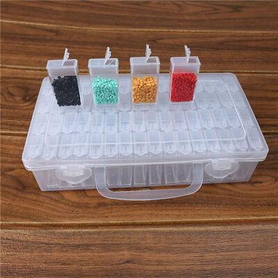 10/24/64 Slots Storage Box Plastic Jewelry Organizer Container Case Bead Craft