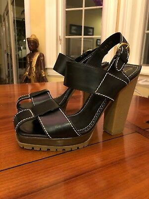 0b74076aba5 YSL SAINT LAURENT TRIBUTE Black Platform Shoes Sandals Size 39 US 9.5