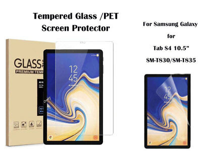 PET Ultra Clear/Tempered Glass Screen Protector For Samsung Galaxy Tab S4 10.5