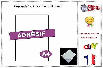Feuilles A4 Blanches Autocollantes Adhesives  21X29,7 Sticker Mat Papier Adhesif