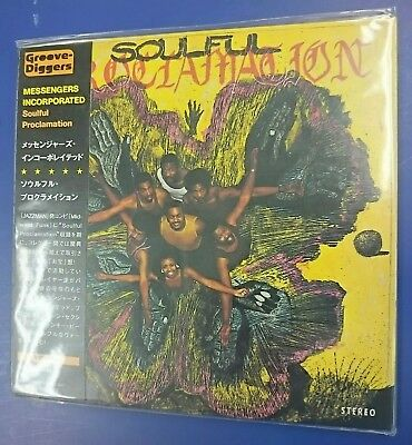 MESSENGERS INCORPORATED - SOULFUL PROCLAMATION  Japan Mini LP CD.  Rare Funk