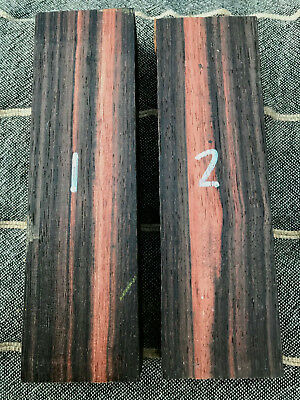 Asian striped ebony / Malaysian ebony knife handle blocks / carving blocks