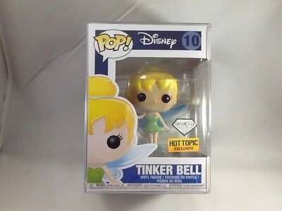 Tinker Bell Diamond Collection Peter Pan Funko Pop #10 Hot Topic w/Pop Protector