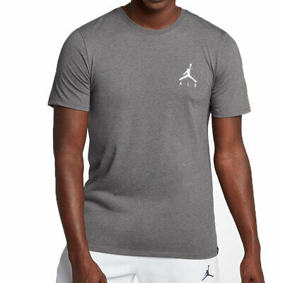 outlet store 197cd c6eb1 Jordan JSW Jumpman Air Embroidered Men s T-Shirt Carbon Heather White