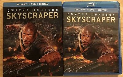 Skyscraper Blu Ray + Dvd 2 Disc Set With Slipcover Sleeve Dwyane Johnson