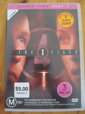 The X Files Season Four 4 Part 1 Dvd (Reg 4) Ex Rental Gillian Anderson