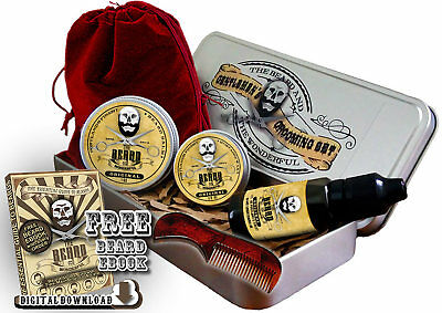 Worlds Best Beard Grooming Kit Premium Ingredients Hand Crafted in 6 Fragrances